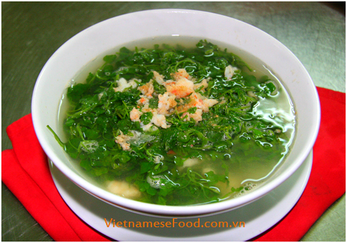 Watercress Soup with Grinded Prawn Recipe (Canh Cải Xoong Tôm ...