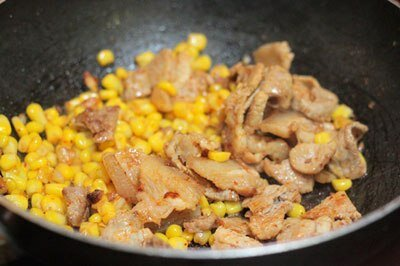 Fried Pork Belly with Sweet Corn Recipe (Thịt Ba Chỉ Xào Bắp)