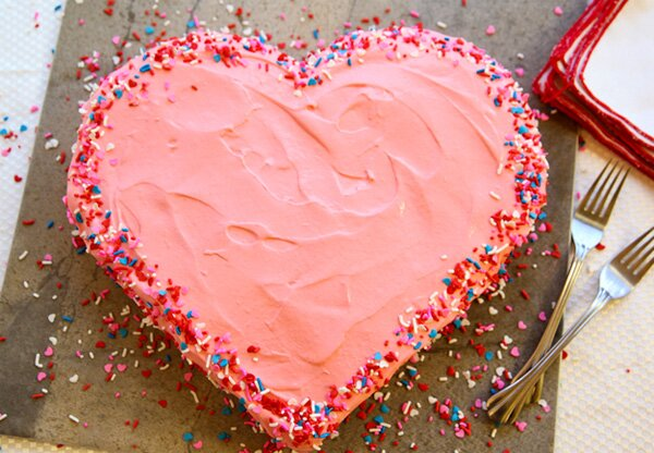 Торт в виде сердца фото своими руками