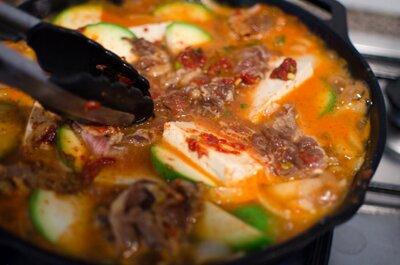 Zucchini Soup with Beef and Tofu (Canh Bí Ngòi Thịt Bò Đậu Hũ)
