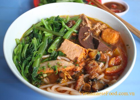 Shrimp and pork vermicelli soup with ong choy recipe canh b 250 n