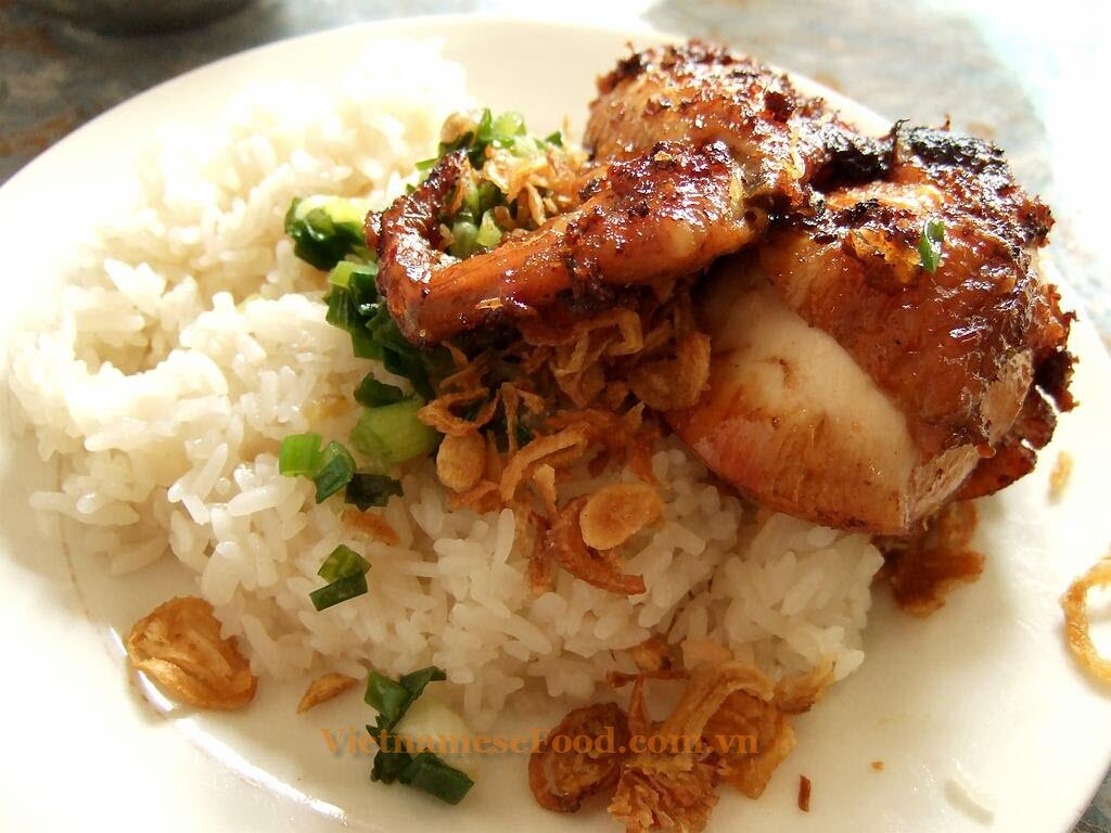 ... chicken meat, sprinkle little oil mixed with scallion oil cooked. If