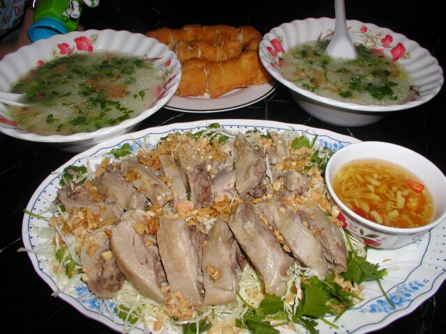 duck-porridge-and-salad-recipe-chao-goi-vit