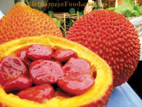 steamed-red-sticky-rice-with-mung-bean-recipe-xoi-gac-dau-xanh